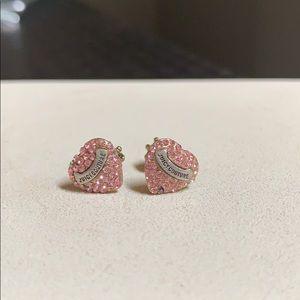 Juicy Couture Pink Heart Stud Earrings